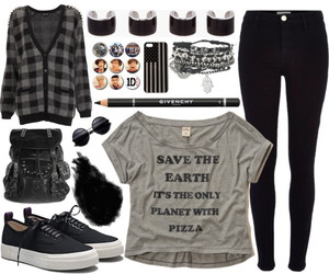 Polyvore, black, and pizza image