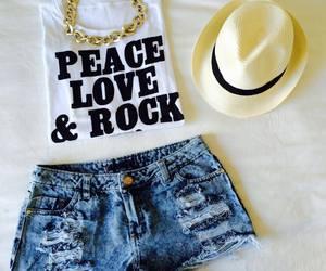fashion, peace, and rock image