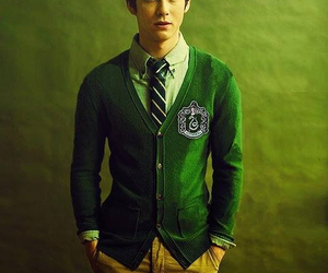 logan lerman, slytherin, and harry potter image