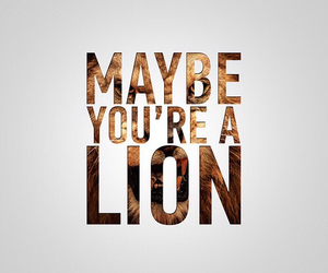 lion, positive, and quote image