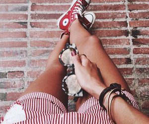converse, red, and summer image