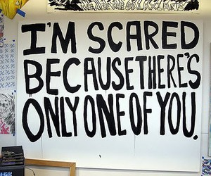 scared, text, and quote image