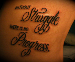 tattoo, struggle, and progress image