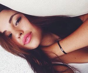 girl, lips, and beauty image