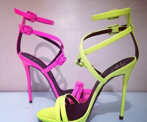 pink, heels, and shoes image