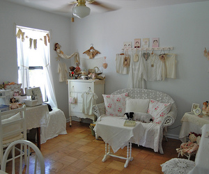 craft room, dresser, and lace image