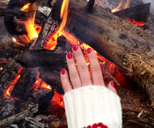 christmas, color, and fire image