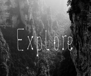 black and white, explore, and travel image