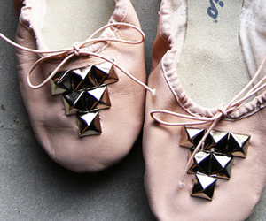ballet flats, girly, and studs image