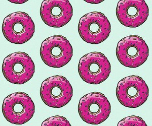 background, colorfull, and donuts image