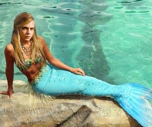 mermaid and cara delevingne image