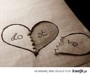 lost, love, and heart image