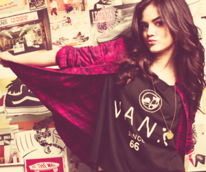 lucy hale, pretty little liars, and vans image