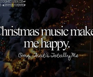 christmas, happy, and music image