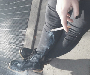 grunge, smoke, and black image