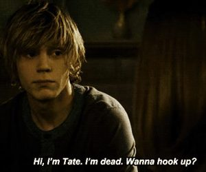 tate, violet, and evan peters image