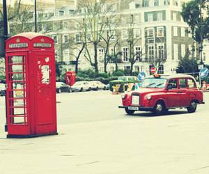 london, uk, and red image
