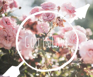 flowers, god, and love image