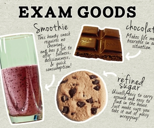 exam and chocolate image