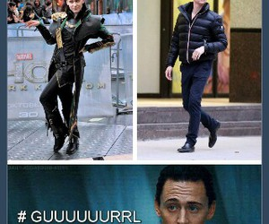 loki, tom hiddleston, and sorry but it's funny image