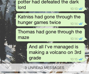 harry potter, text, and the hunger games image