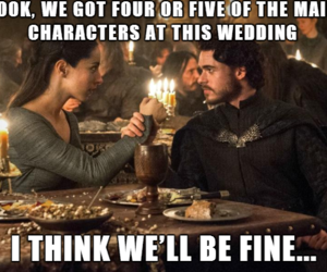 game of thrones, red wedding, and robb stark image