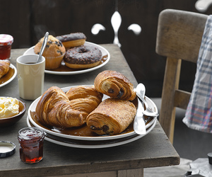 bread, food, and breakfast image