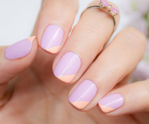 nails, pretty, and ring image