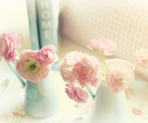 pink, flowers, and pastel image