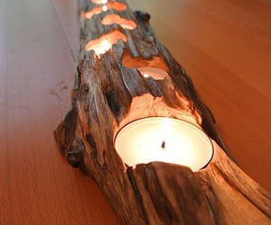 candle, diy, and wood image