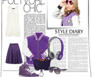 Polyvore, purple, and long champ image