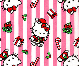 cat, christmas, and hello kitty image