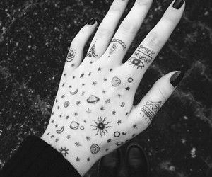 black and white, cool, and nails image