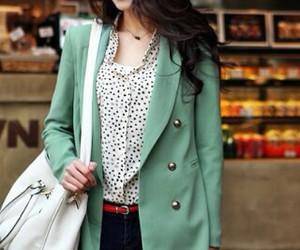 fashion, korean fashion, and polka dots image