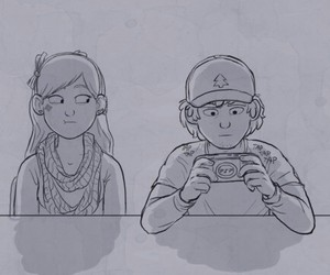 games, gravity falls, and dipper pines image