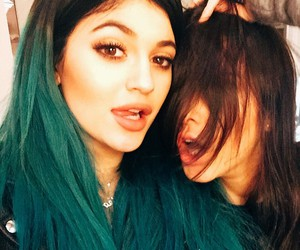 kylie jenner, kendall jenner, and hair image