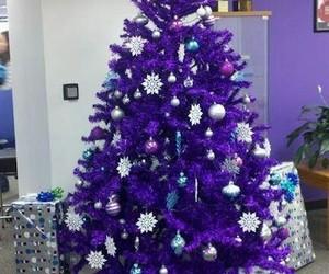 christmas, tree, and purple image