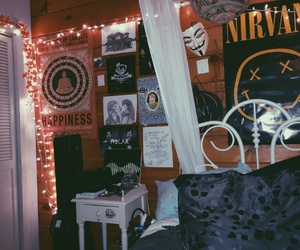 grunge, room, and bedroom image