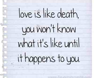 love, death, and quote image