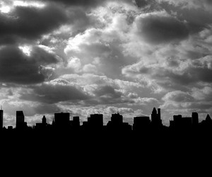 black and white, city, and newyork image