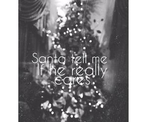 christmas, santa, and christmaslights image