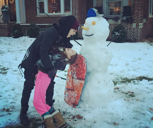 justin bieber, snow, and snowman image