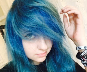 alternative, blue hair, and me image