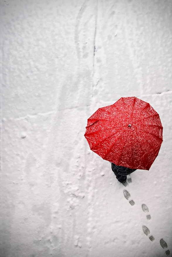 snow, heart, and umbrella image