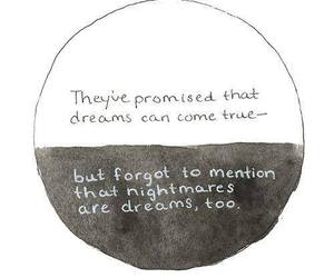 dreams, forget, and nightmares image