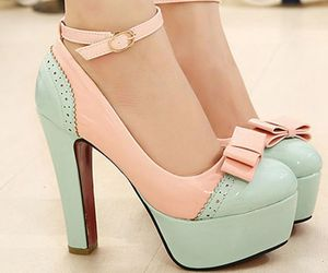 mint, pink, and shoes image