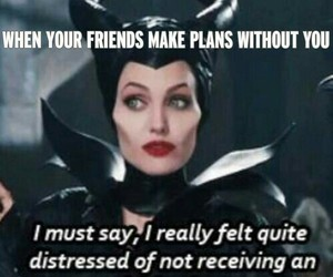 friends, funny, and maleficent image