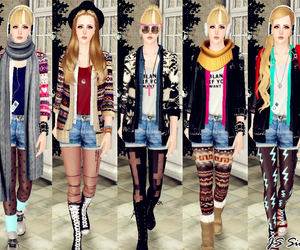 girls, cute, and sims 3 image