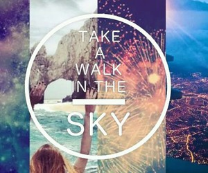 take, walk, and in the sky image