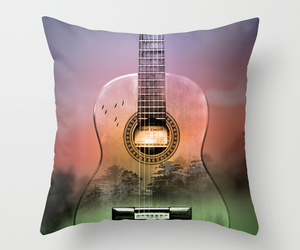 art, bed, and guitar music image
